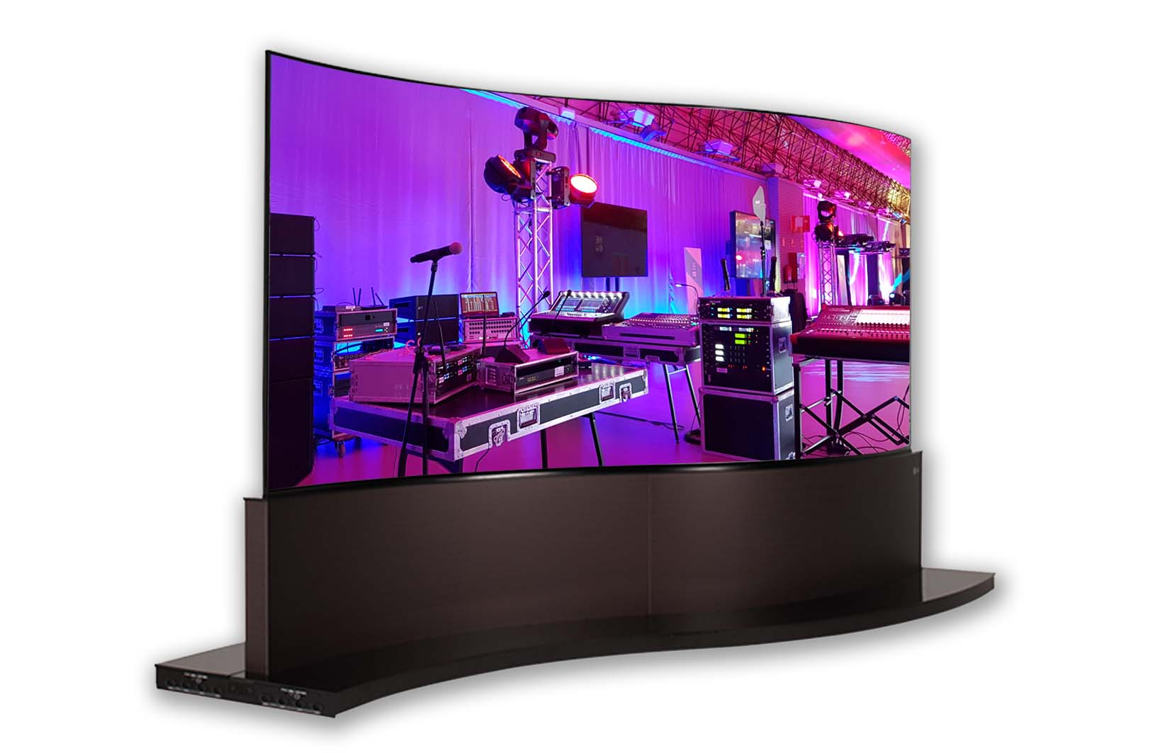 LG OLED Dual-view Curved Tiling - Power Audiovisual Rental